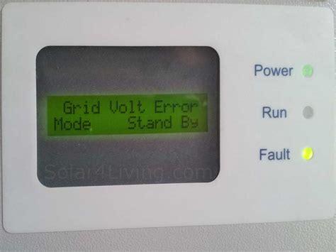 Aero Sharp Problems Inverter Grid Volt Error Repair