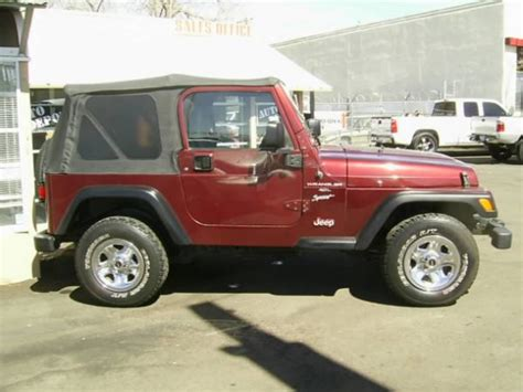 Used Jeeps For Sale In Iowa 2001 Jeep Wrangler For Sale At Carlotlauncher In Any Town Ia
