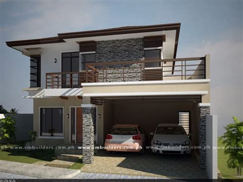 modern house design in philippines modern zen house design cm builders
