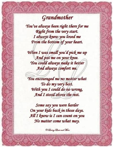 Birthday Quotes For Grandparents 25 Best Ideas About Grandmother Poem On Pinterest Loss