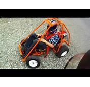 Homemade Go Kart And Mini Bike GoPro &amp Rollover  YouTube