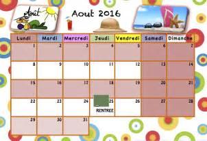 Calendrier Septembre 2017 Maternelle Calendrier Pour Les Enfants 2016 2017 La Classe De Luccia