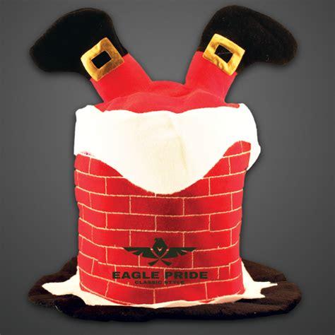 Chimney Hat With Santa - santa stuck in the chimney hat usimprints