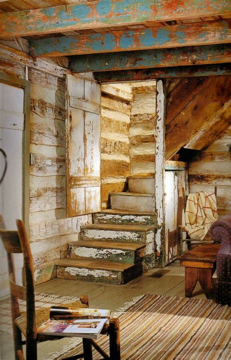 Woods Vintage Home Interiors Inside An Cabin Log Cabins Pinterest
