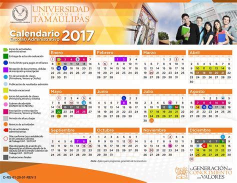 Calendrier Industriel 2017 Calendario Uat 2017 Universidad Autonoma De Tamaulipas