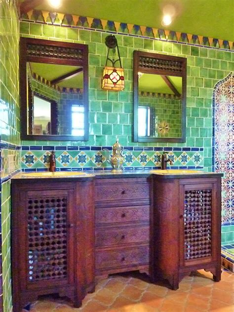 Mexican Tile Bathroom Ideas Moroccan Themed Bathroom Using Turkish Moroccan And Mexican Tiles By Kristiblackdesigns