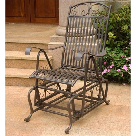 brown patio single patio glider in matte brown 3457 rt bn