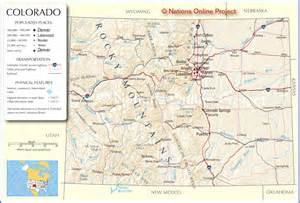 map of colorado cities and towns colorado cities map colorado us mappery