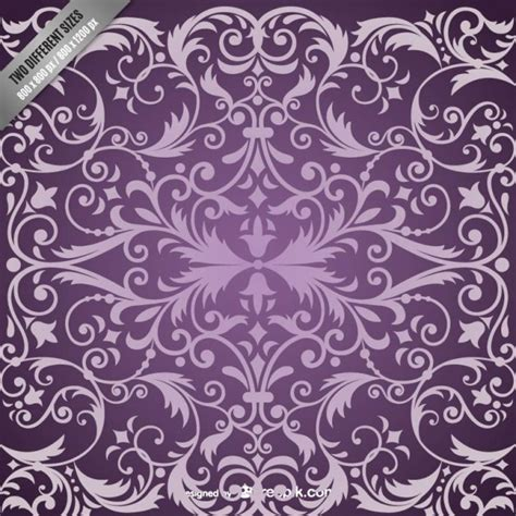 damask pattern freepik purple damask pattern background vector free download
