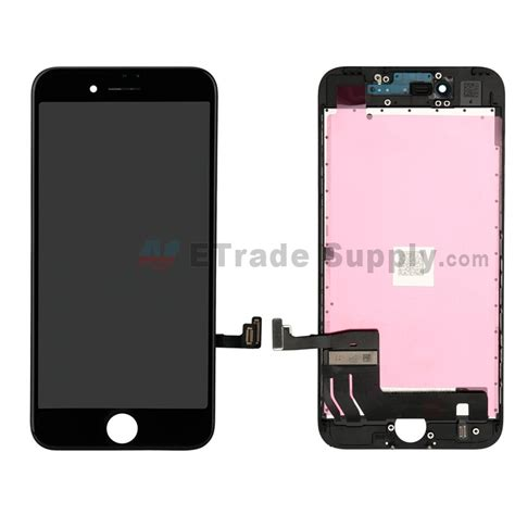 apple iphone 7 lcd screen and digitizer assembly with frame black etrade supply