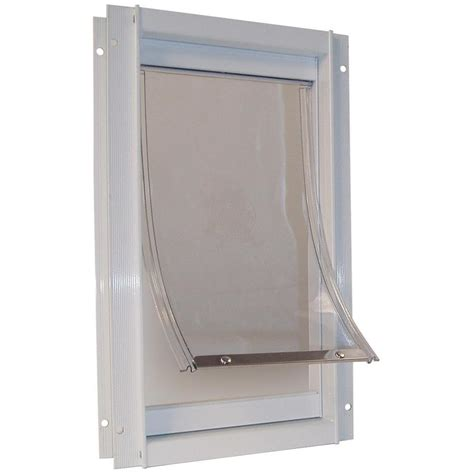 Large Pet Door by Shop X Large White Aluminum Pet Door Actual 20 In X 15