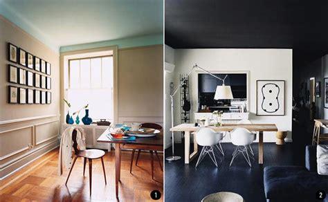 pintar el techo pintar el sal 243 n en dos colores ideas