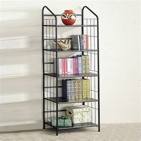 black 5 shelf bookcase bookcase bookshelf furniture tier black bookcase