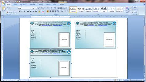 membuat id card word cara membuat kartu pelajar dengan mail merge republic of