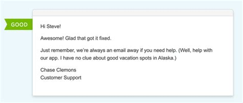 templates and hints for the email for almost every