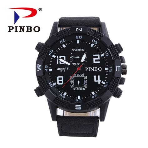 2016 mens watches pinbo brand luxury casual