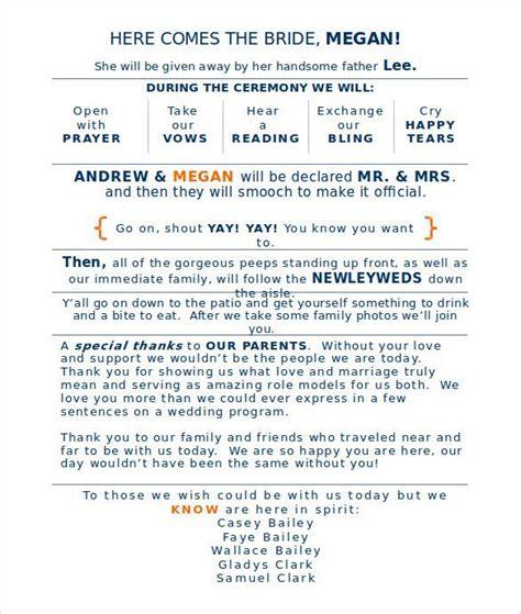 Word Document Wedding Program Template