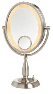 Makeup Mirror With Lights And Magnification Jerdon 10x 1x W 15x Insert Lighted Vanity Makeup Mirror