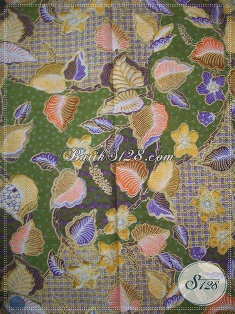 Batik Katun Motif Daun Pejabat kain batik motif daun dan bunga warna hijau trend batik
