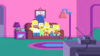 Pixel Couch pixel art simpsons couch my wallpaper