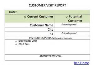 customer visit report format templates index of donotdelete tristar rep images