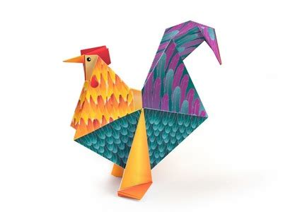 origami rooster tutorial origami how to make a paper butterfly diy paper crafts