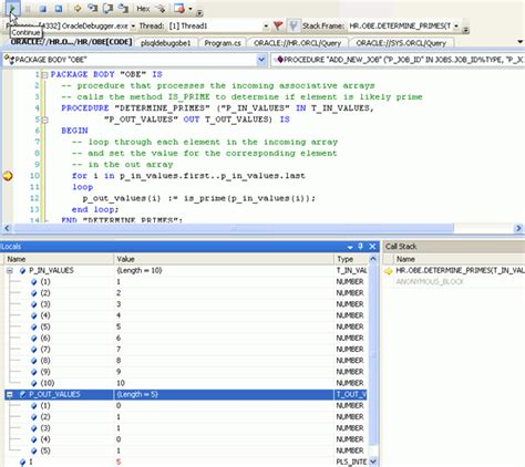 print multiplication table in pl sql debugging oracle pl sql from visual studio