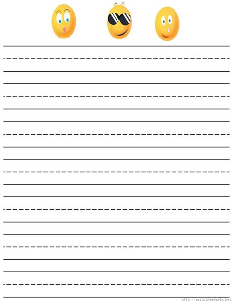 free handwriting paper for first grade letter writing