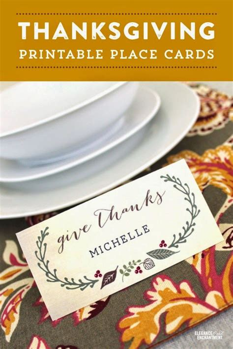 thanksgiving place setting cards template free printable thanksgiving place cards a time for