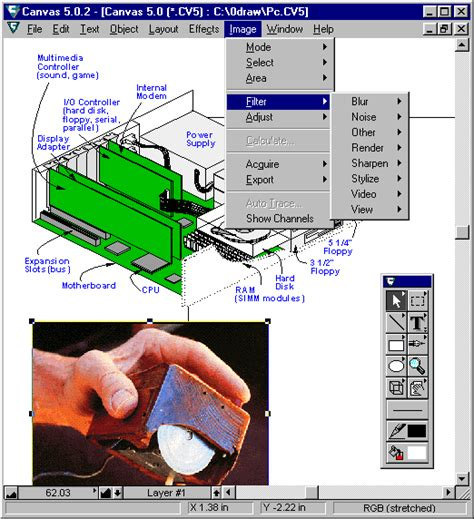 layout definition for computer canvas definition from pc magazine encyclopedia