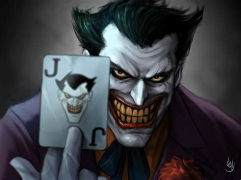 anime joker wallpaper paint over joker from batman animated series by jaeon009