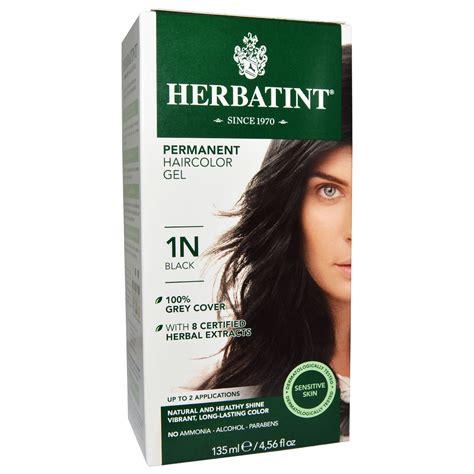 herbatint hair color herbatint permanent haircolor gel 1n black 4 56 fl oz