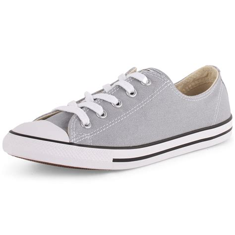 converse chuck dainty ox womens light grey trainers