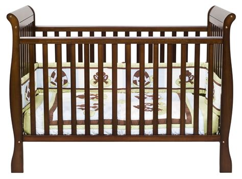 bedroom traditional wood sleigh crib design for your
