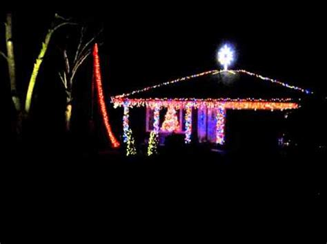 2012 christmas light show a very techno christmas youtube