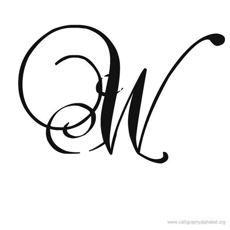 letter w tattoo designs calligraphy alphabet a to z styles and sles