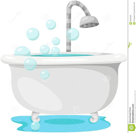 bathtub clipart free bathtub stock vector image 39381883