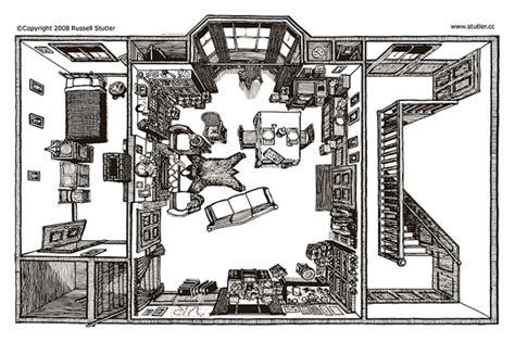 Smithsonian Floor Plan The Scene Of Deduction Drawing 221b Baker Street Arts