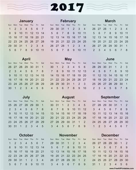 free printable yearly calendars 2017 printable 2017 calendar 2017 printable calendar daily