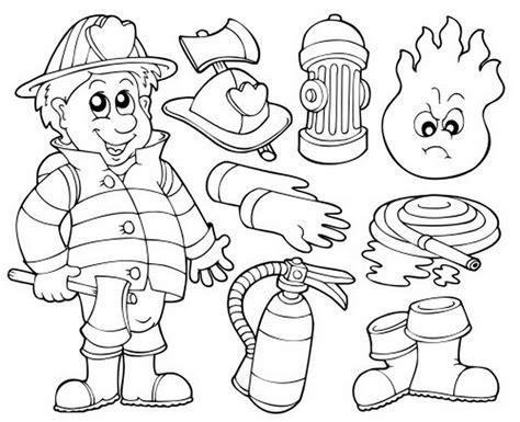 firefighter coloring fireman pages coloringsuite grig3 org