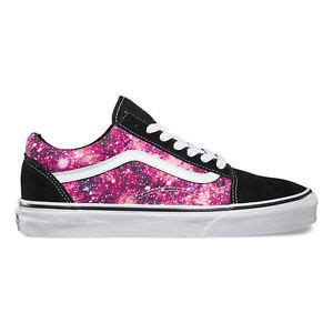patterned vans womens new vans cosmic cloud old skool galaxy purple pink womens