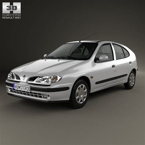 renault hatchback models renault megane 5 door hatchback 1995 3d model cgstudio