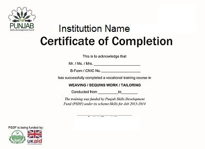 sle certificate of course completion free download