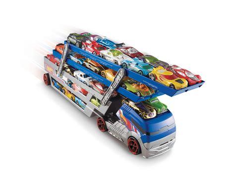 Wheels Turbo Hauler With 20 Diecast Multi Colour wheels 174 turbo hauler 174 truck shop wheels cars trucks race tracks wheels