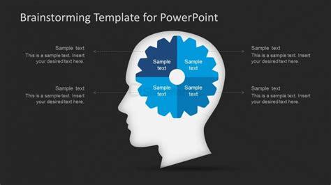 Brainstorming Slide Design With Brain Illustration And Brainstorming Ppt