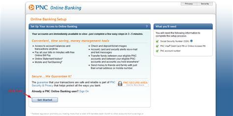 reset pnc online password pnc bank online banking login login bank