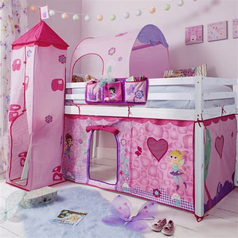 fairies cabin bed with tent tower tunnel bed tidy