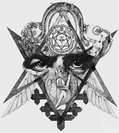 таро тота illustration art drawing occult symbolism
