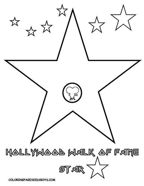 Free Printable Hollywood Star | free coloring pages of hollywood walk of fame