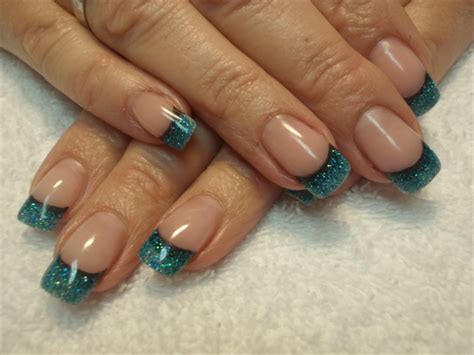 teal gel nail designs black to teal nail art gallery